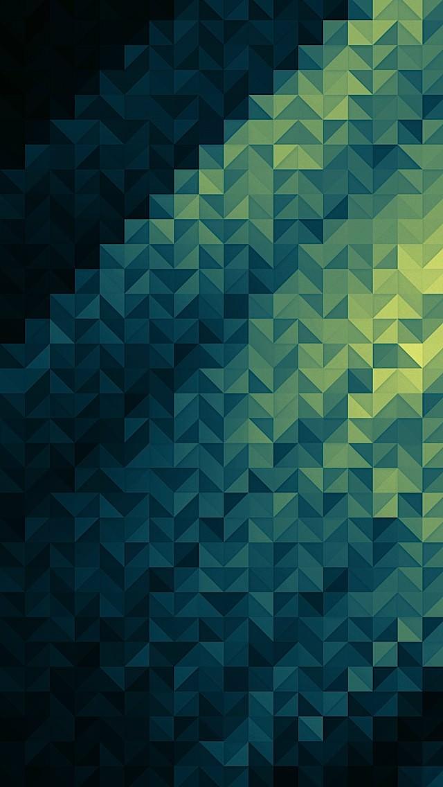 青のポリゴン iPhone5 スマホ用壁紙