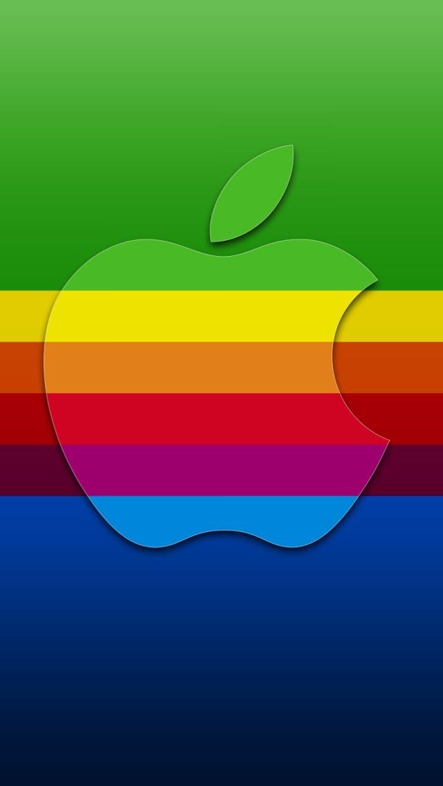 ド派手なアップルロゴ iPhone5 スマホ用壁紙