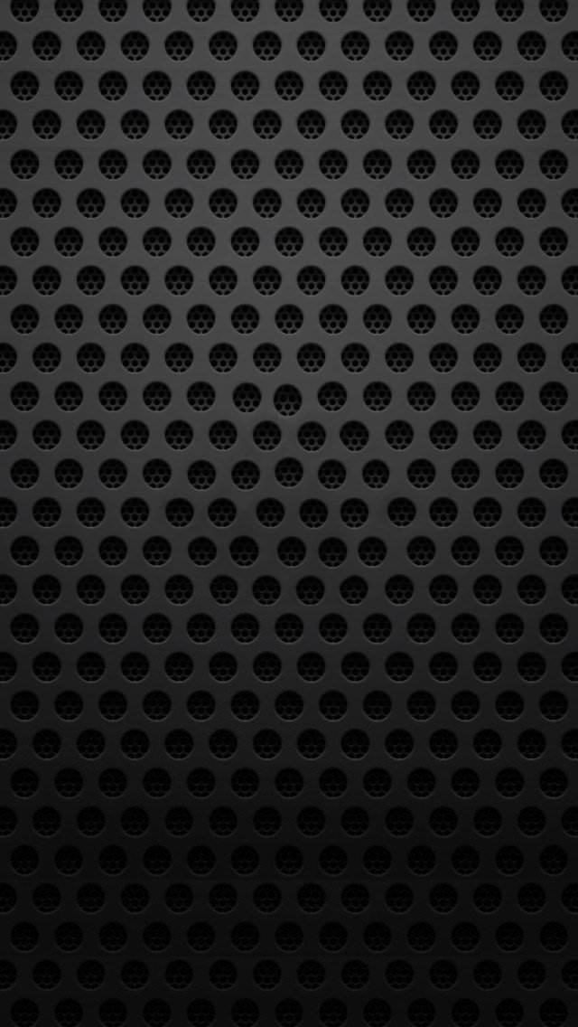 穴のあいた黒のiPhone5 スマホ用壁紙