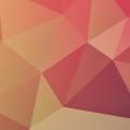 赤のポリゴン iPhone5 スマホ用壁紙