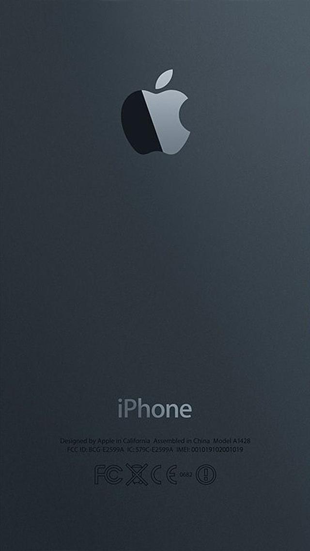 マットでネイビーなiPhone5 スマホ用壁紙