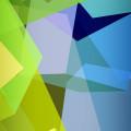 緑のポリゴン iPhone5 スマホ用壁紙