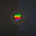 ビンテージ風のアップルロゴ iPhone5 スマホ用壁紙