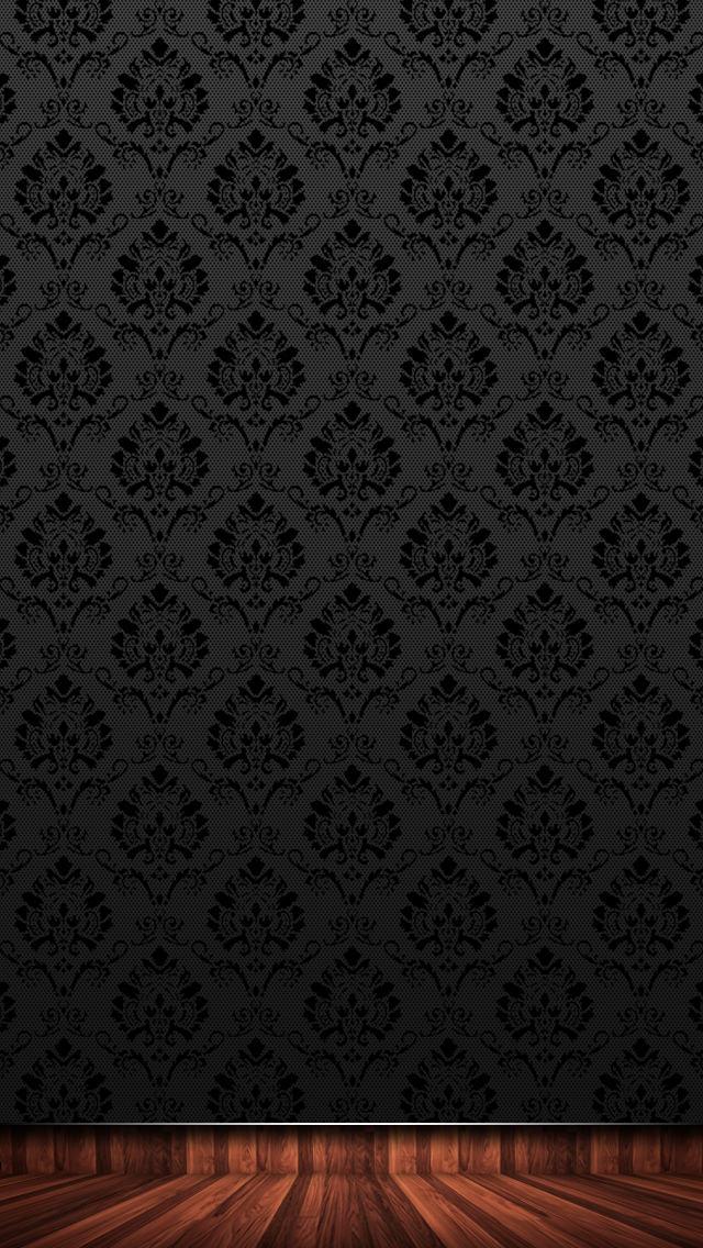 高級感のある黒のiPhone5 スマホ用壁紙