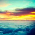 早朝の雲海 iPhone5 スマホ用壁紙