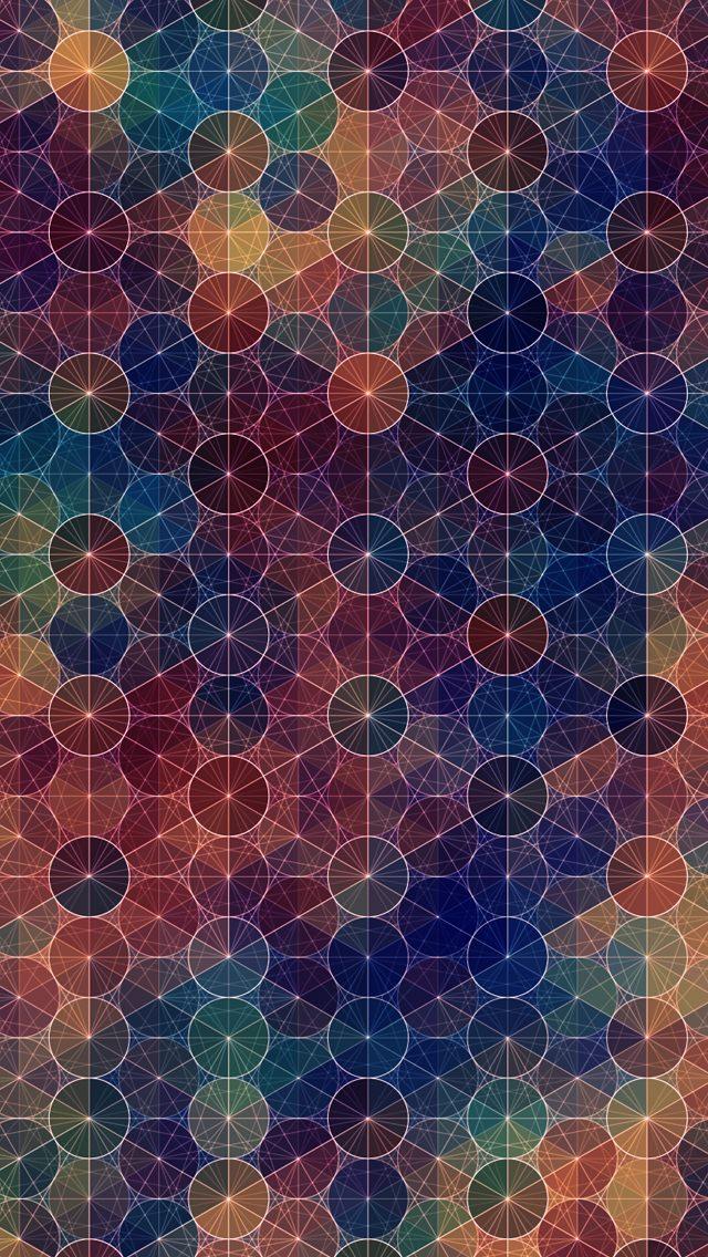 カラフルな幾何学模様