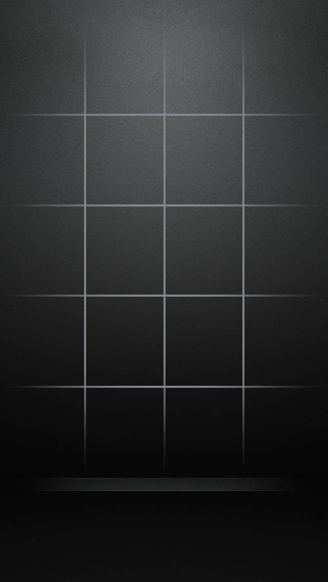 シンプルな黒のグリッド iPhone5 スマホ用壁紙