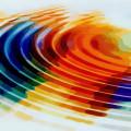 虹色の波紋 Androidスマホ壁紙