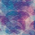 青と紫の融合 iPhone5 スマホ用壁紙