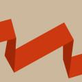 オレンジの折れ線 Androidスマホ壁紙