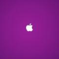 シンプルな紫アップルロゴ iPhone5 スマホ用壁紙