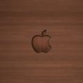木目調の綺麗なロゴ iPhone5 スマホ用壁紙