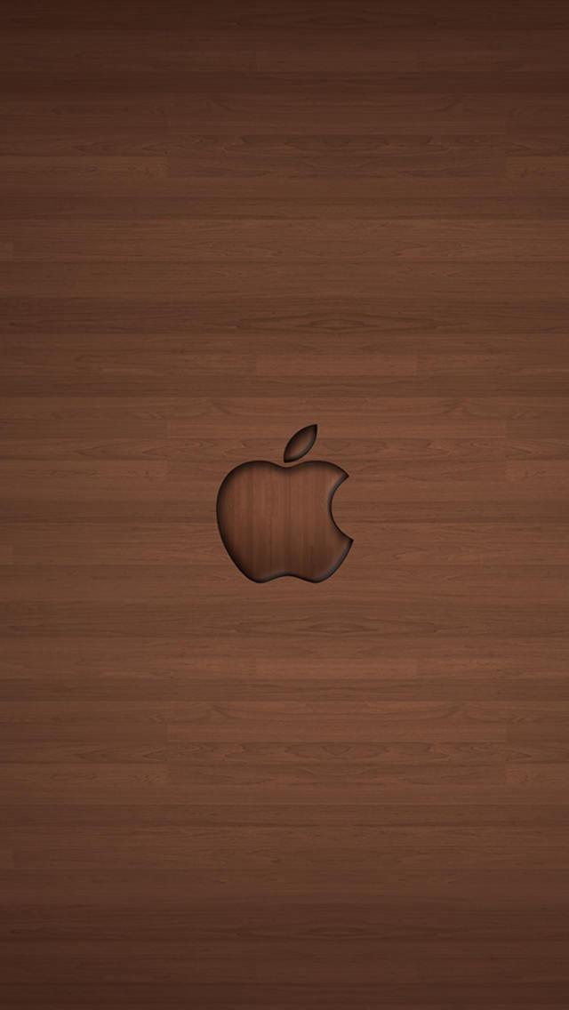 木目調の綺麗なロゴ Iphone5 スマホ用壁紙 シンプル使いやすい!【木目柄】 パターン調 【スマホ待ち受け