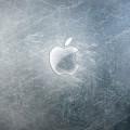 傷ついてるアップルロゴ iPhone5 スマホ用壁紙
