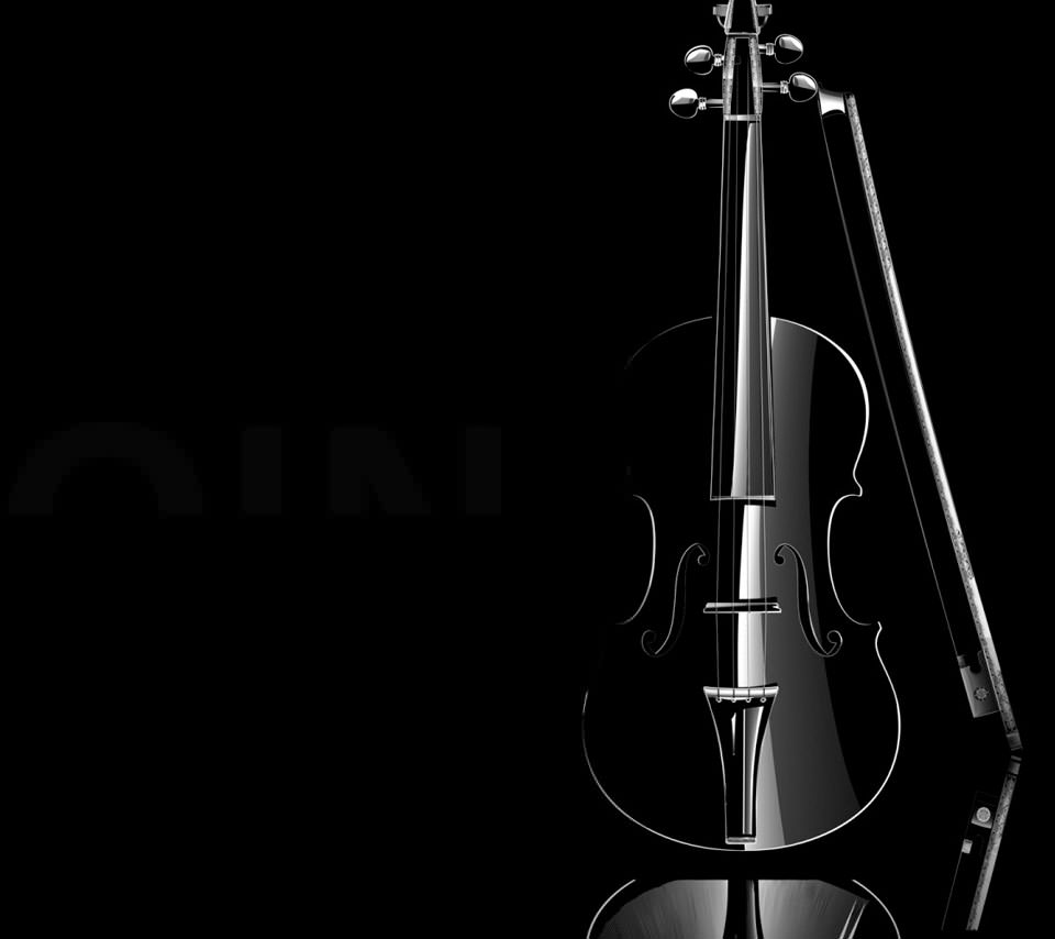 黒いバイオリン Androidスマホ壁紙
