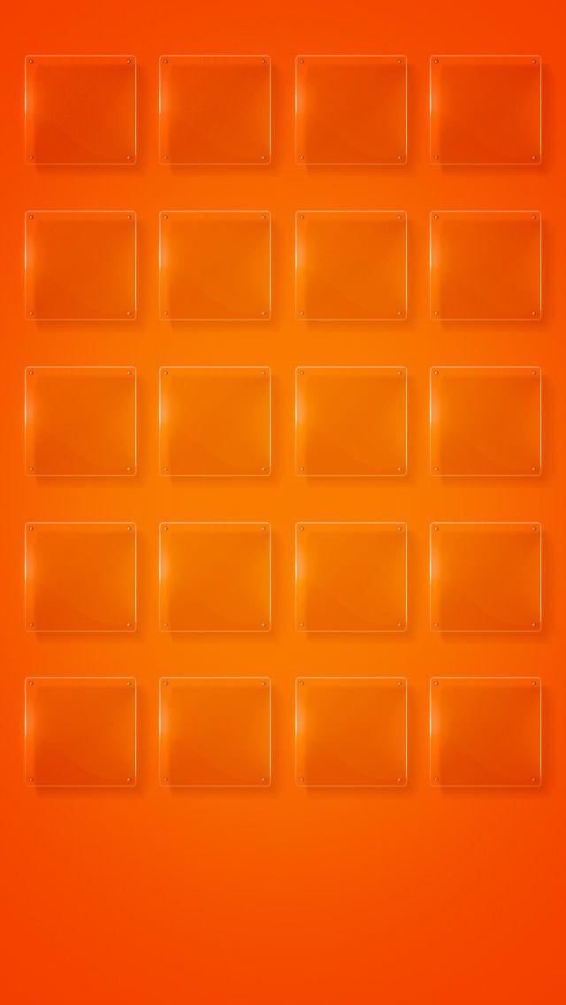 綺麗なオレンジのグラデーション iPhone5 スマホ用壁紙