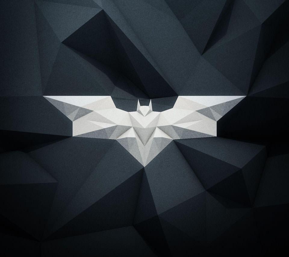 オシャレなコウモリのロゴ Androidスマホ壁紙