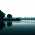 濃い霧の湖畔 Androidスマホ壁紙