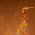佇む鶴 Androidスマホ壁紙