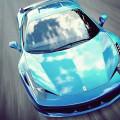 光沢のある青のフェラーリ Androidスマホ壁紙