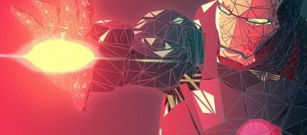 ポリゴンのアイアンマン Androidスマホ壁紙