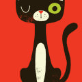 黒猫の肖像 iPhone5 スマホ用壁紙