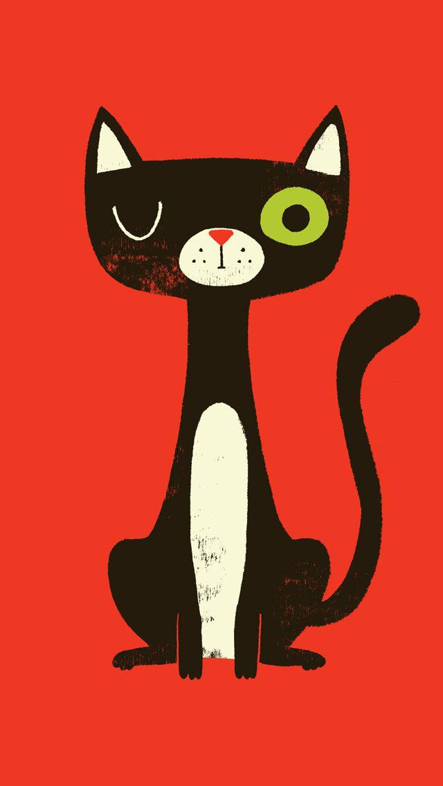 可愛い猫のスマホiphone壁紙【イラスト\u0026写真 画像】【待ち受け画面】