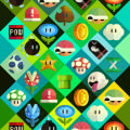 かわいいマリオのiPhone5 スマホ用壁紙
