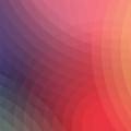 グラデーションのサークル Androidスマホ壁紙