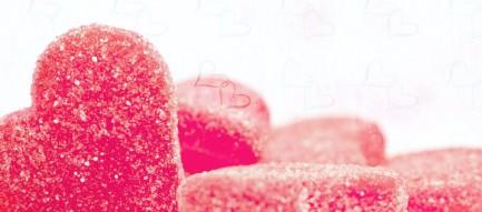 ハート型のお菓子 Androidスマホ壁紙
