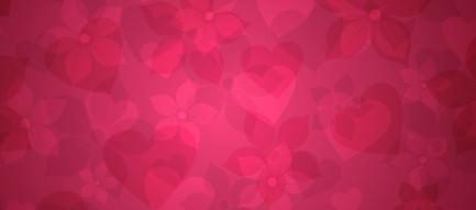ビビットなピンクのハート Androidスマホ壁紙