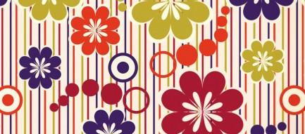 和風の花柄模様 Androidスマホ壁紙