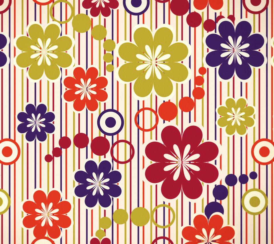 和風の花柄模様 Androidスマホ壁紙 Wallpaperbox