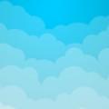 綺麗なグラデーションの雲 スマホ壁紙