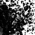 散らばる黒いキューブ スマホ壁紙