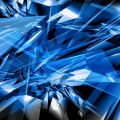 BLUE&BLACK GLASS スマホ壁紙