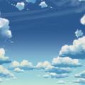 青い空と雲 スマホ壁紙