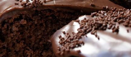 美味しそうなチョコレートケーキ スマホ壁紙