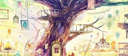 木の街 スマホ壁紙