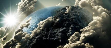 爆煙舞う地球 スマホ用壁紙