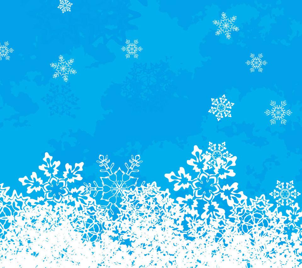 雪の結晶のイラスト スマホ壁紙