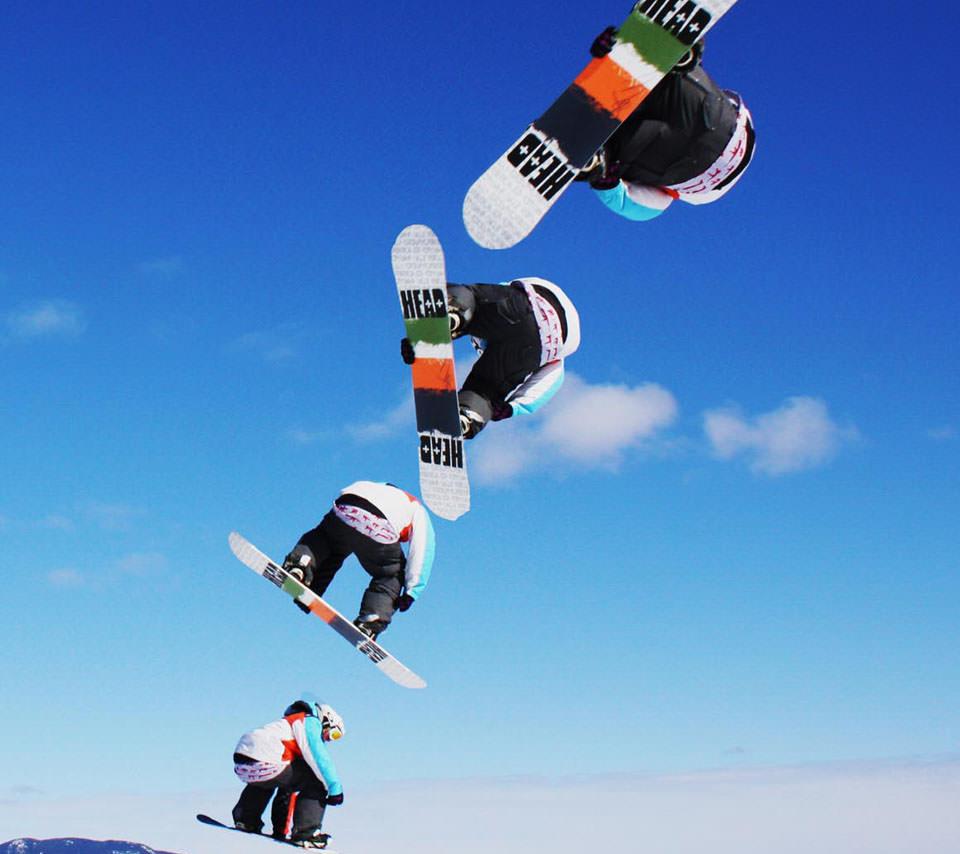スノーボード グランドトリック スマホ壁紙