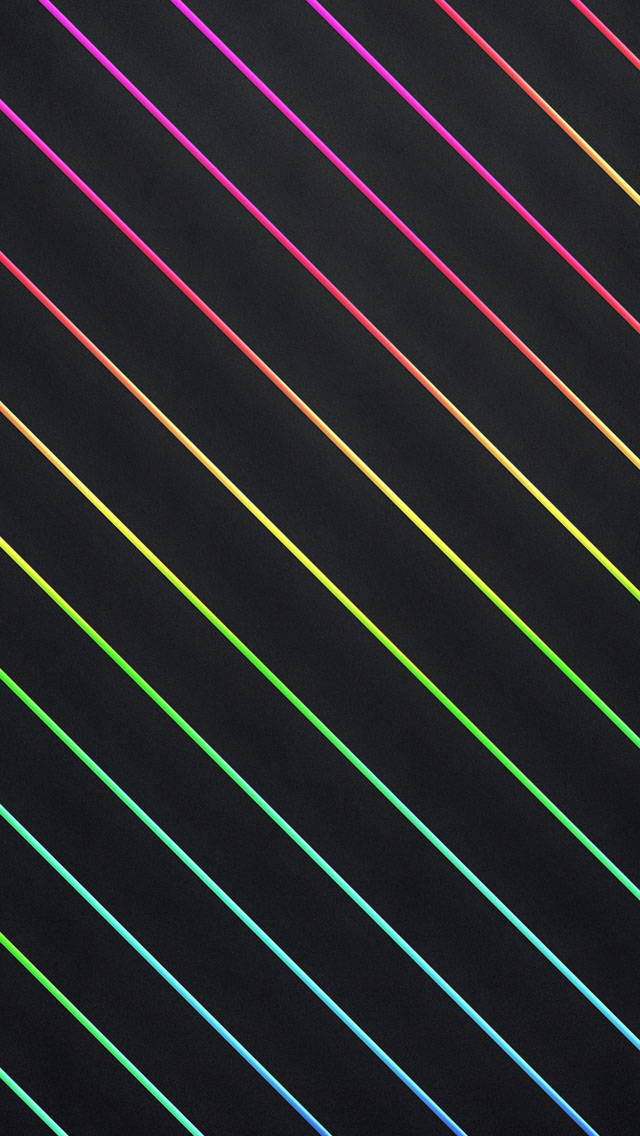 虹色の斜線 iPhone5 スマホ用壁紙