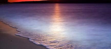 夕暮れ時の海 スマホ壁紙