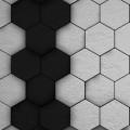 Black&White Hex iPhone5 スマホ用壁紙