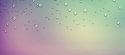 水滴のついた淡いグラデーション Androidスマホ用壁紙