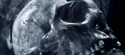 湯気が出てる骸骨 Androidスマホ用壁紙