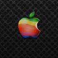 クールな黒地のアップルロゴ iPhone5 スマホ用壁紙