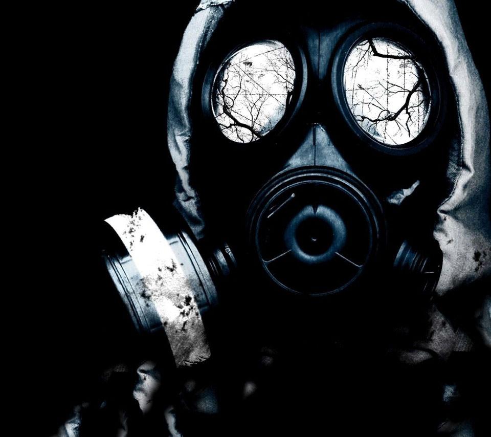 ガスマスク スマホ壁紙