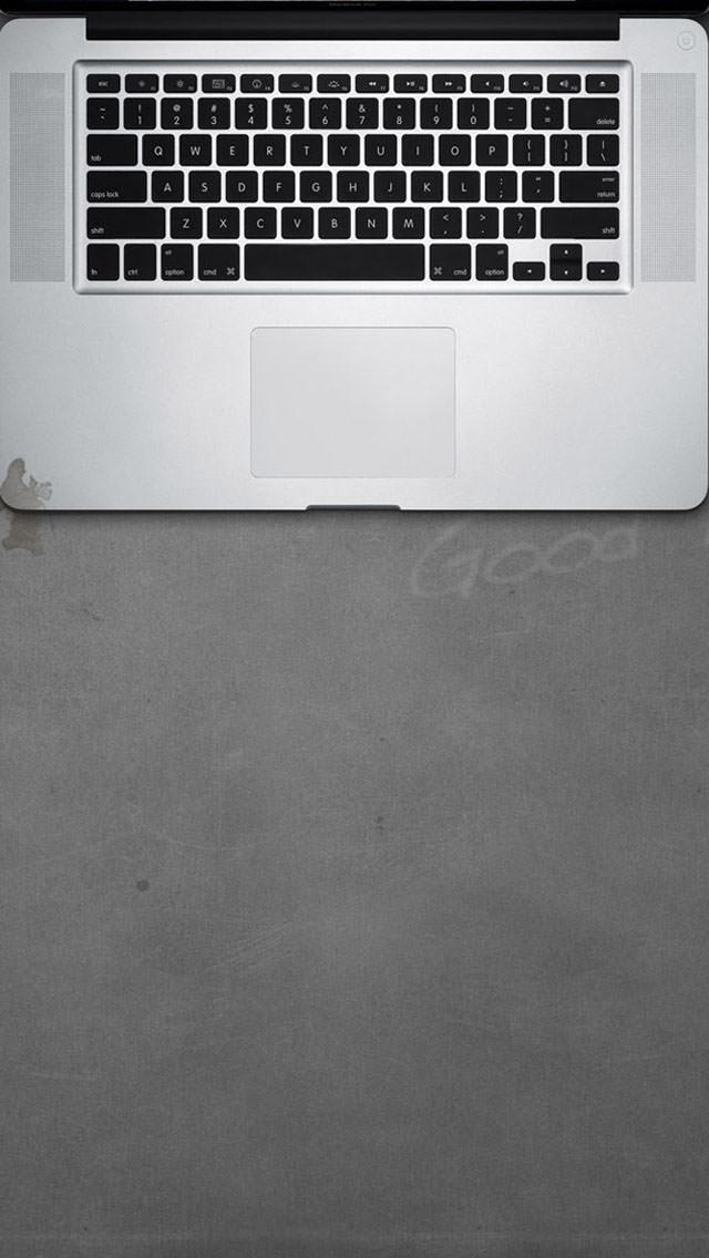 macがあるデスクトップ iPhone5 スマホ用壁紙